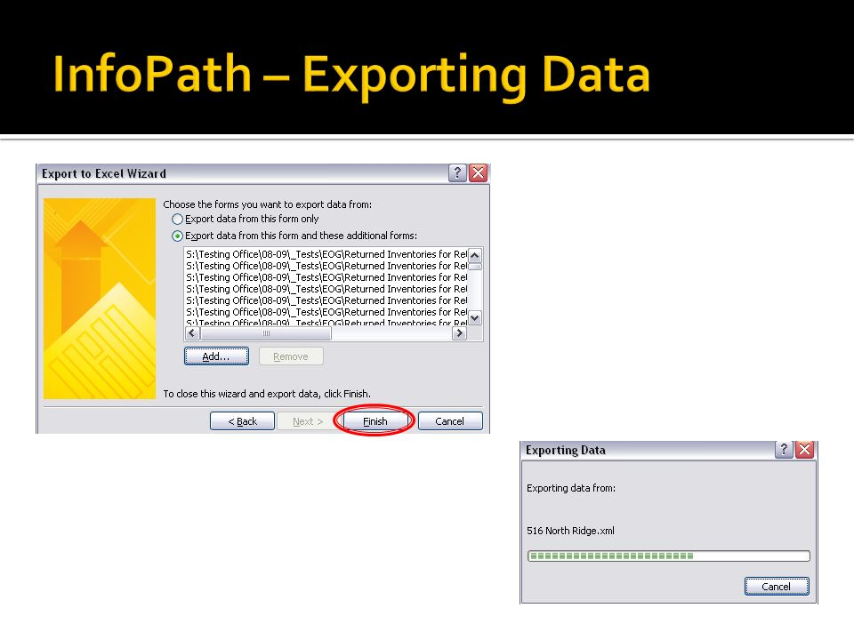 InfoPath – Exporting Data