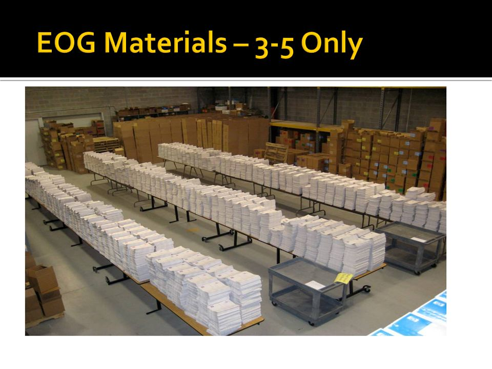 EOG Materials – 3-5 Only