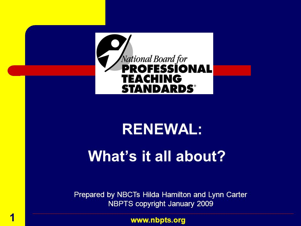 What's it all about RENEWAL: