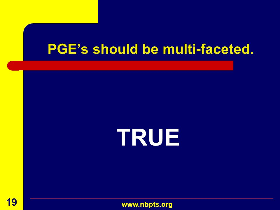 PGE's should be multi-faceted.