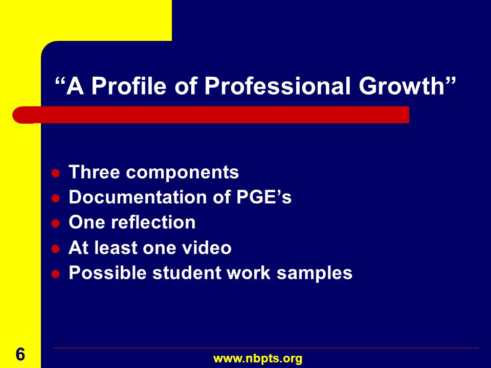 A Profile of Professional Growth