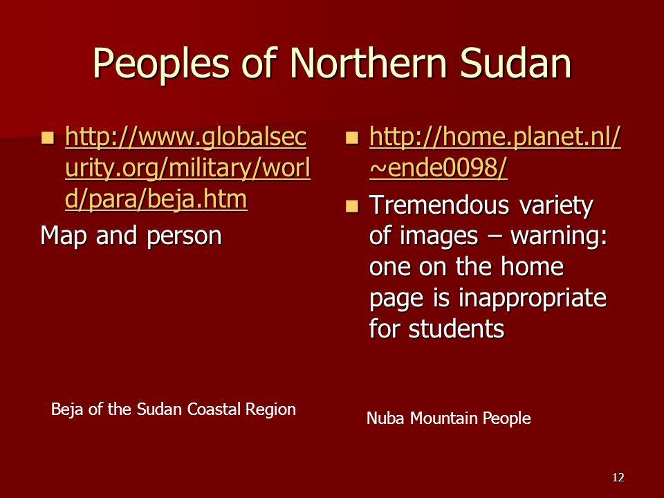 Peoples of Northern Sudan