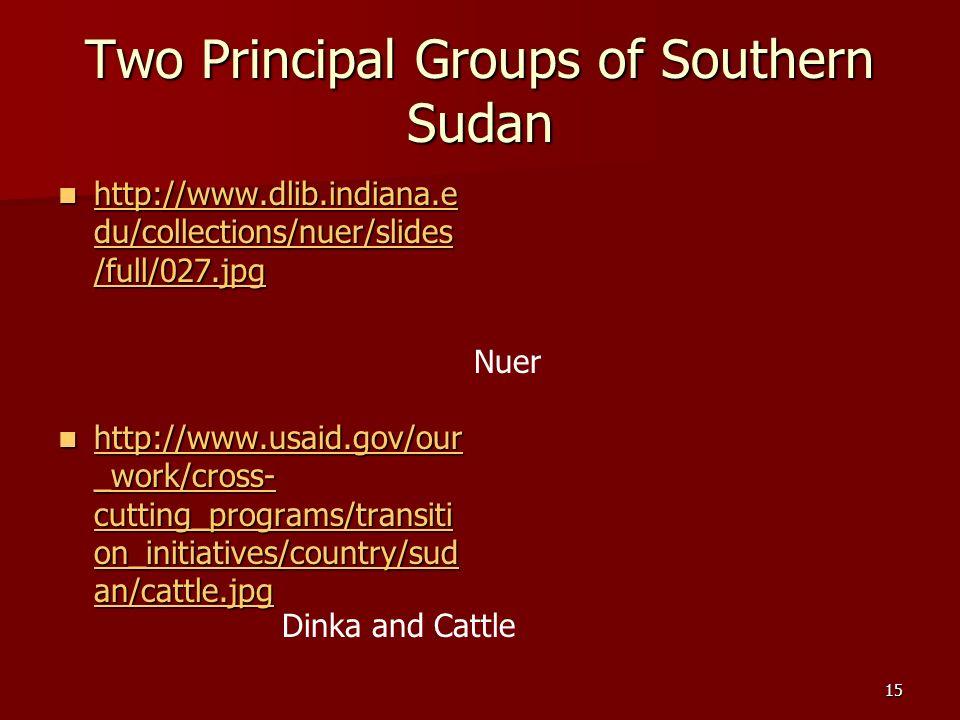 Two Principal Groups of Southern Sudan