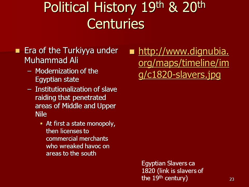 Political History 19th & 20th Centuries