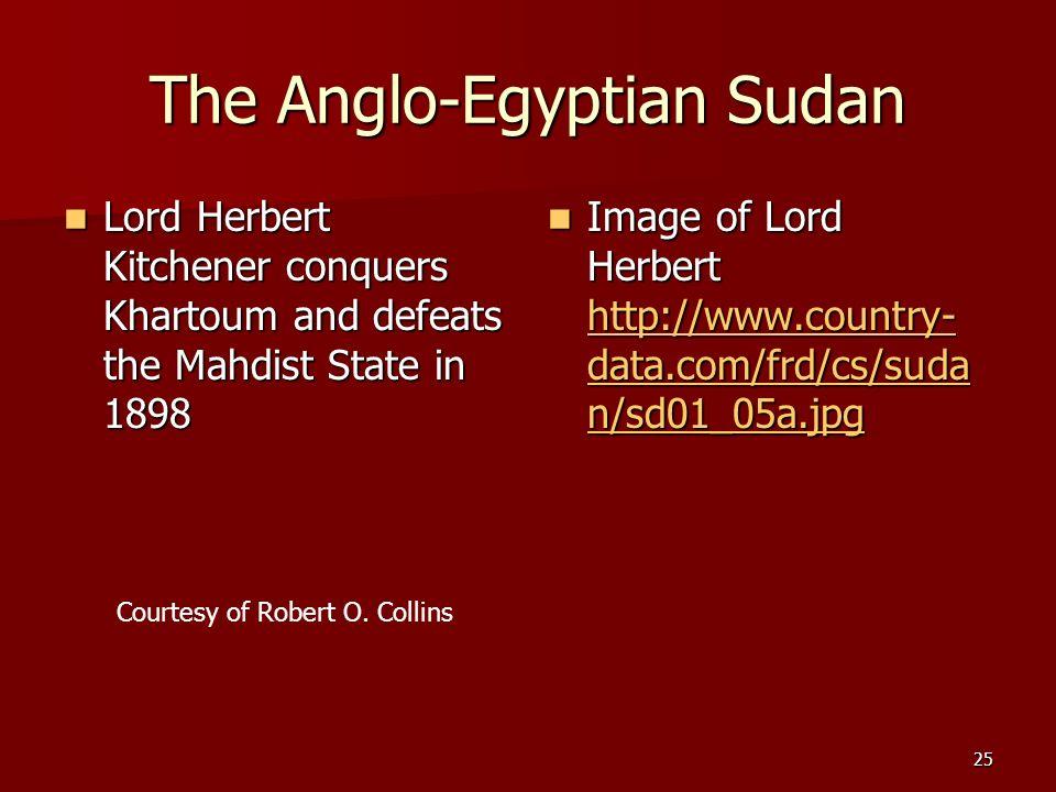 The Anglo-Egyptian Sudan