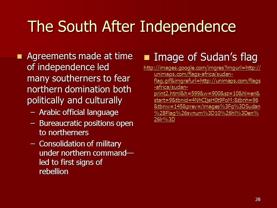 The South After Independence