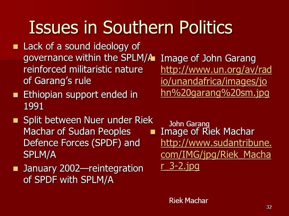 Issues in Southern Politics