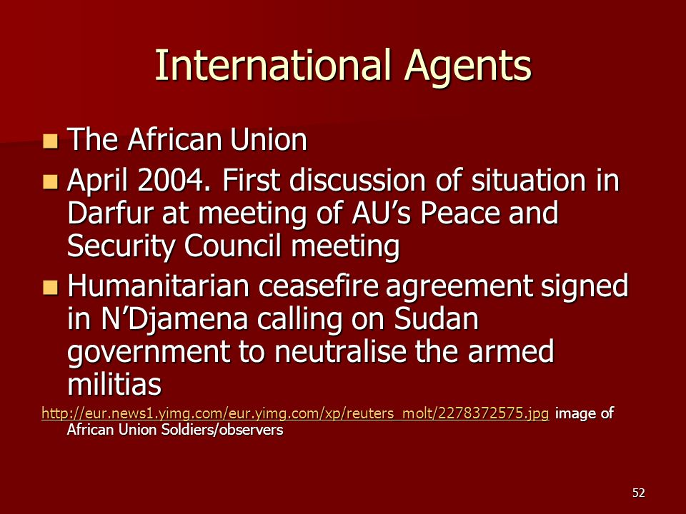 International Agents The African Union
