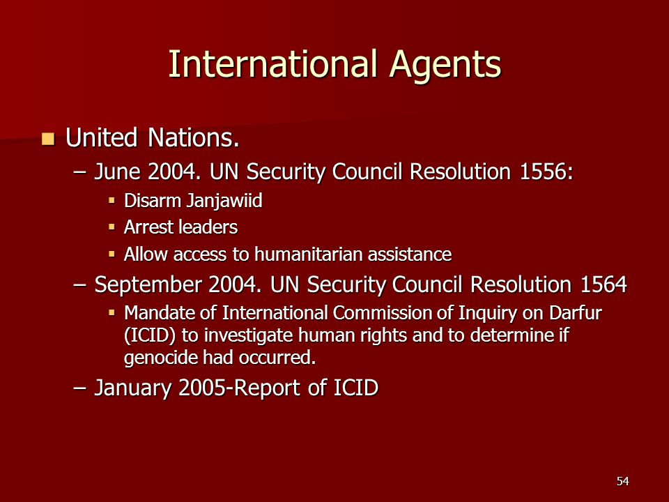 International Agents United Nations.