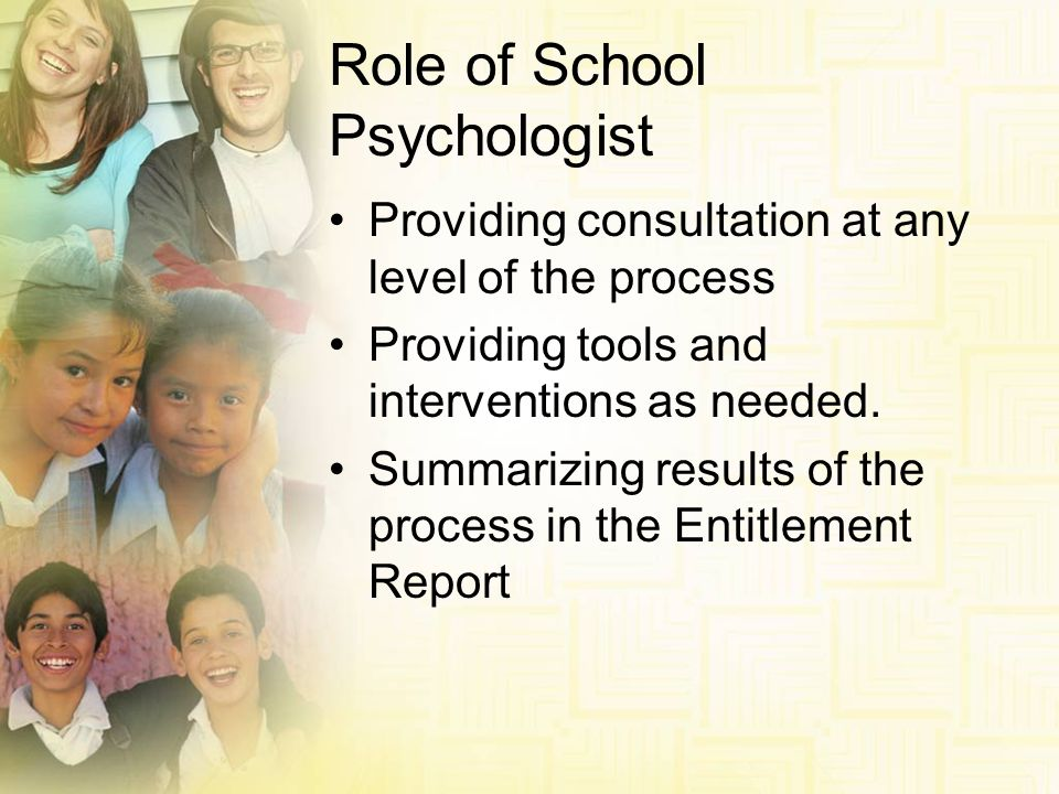 Role of School Psychologist