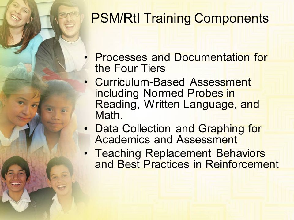 PSM/RtI Training Components