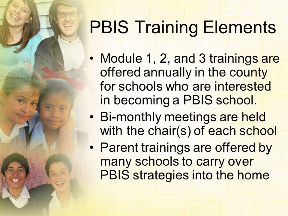 PBIS Training Elements