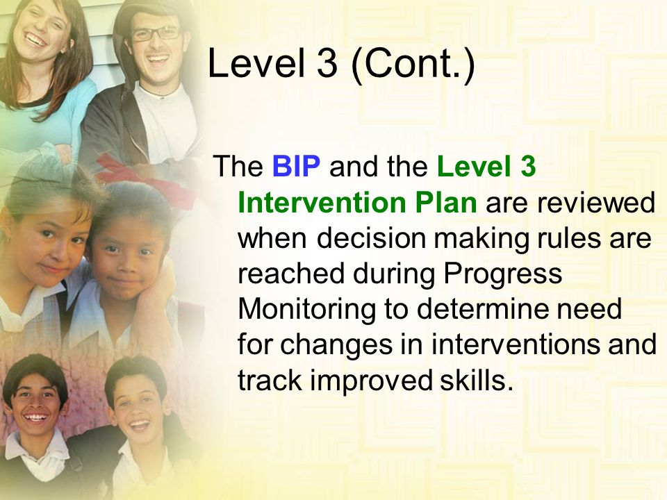 Level 3 (Cont.)
