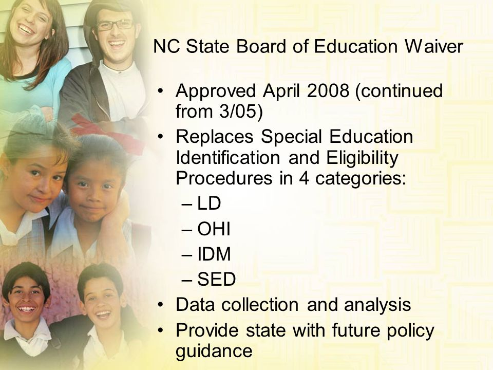 NC State Board of Education Waiver