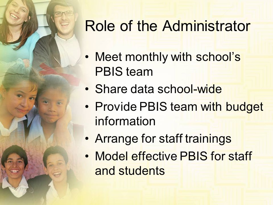Role of the Administrator