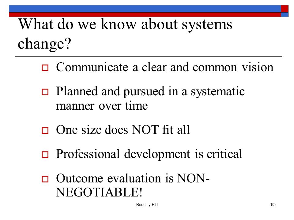 What do we know about systems change