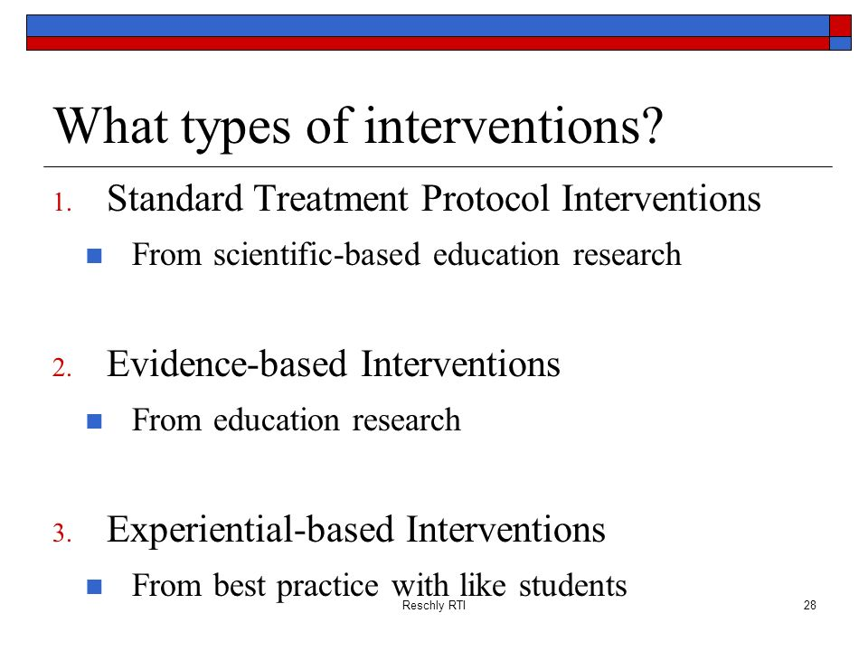 What types of interventions