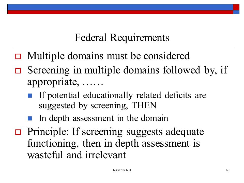 Multiple domains must be considered