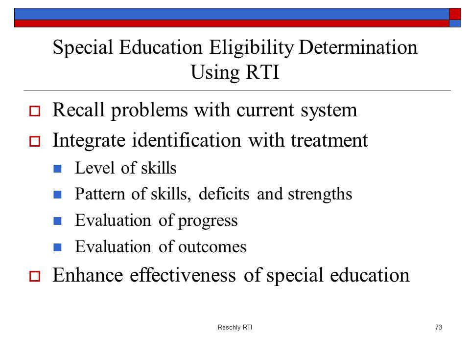Special Education Eligibility Determination Using RTI