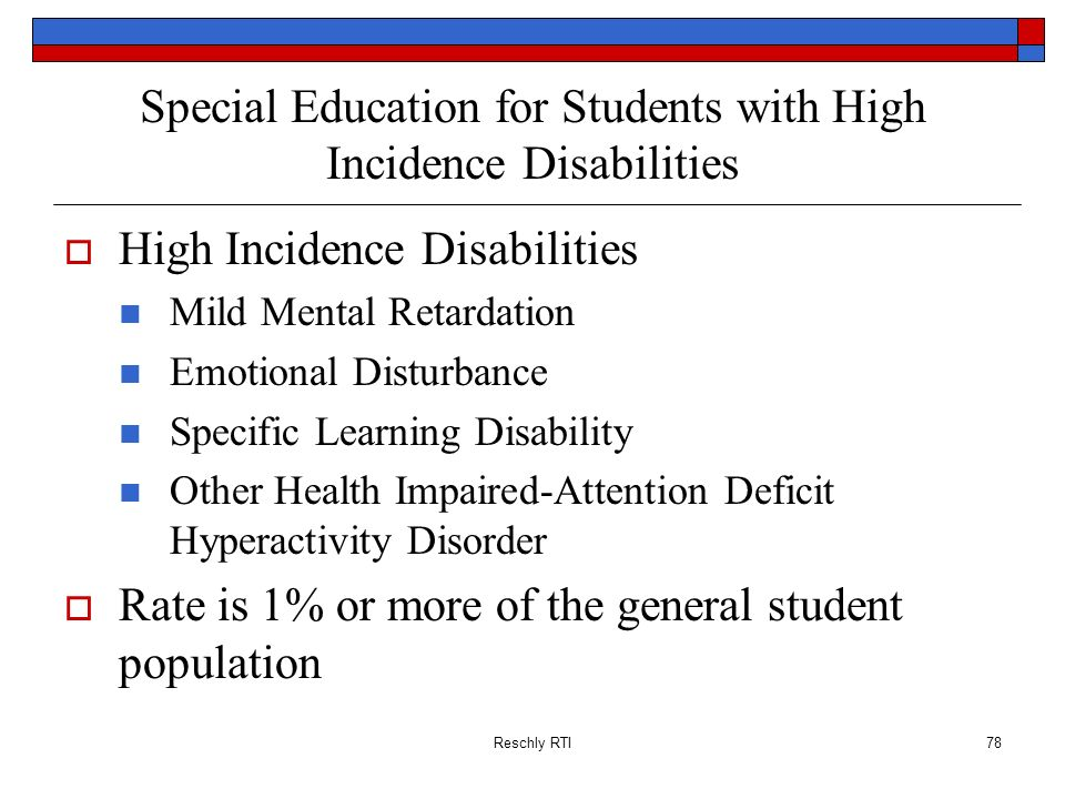 Special Education for Students with High Incidence Disabilities