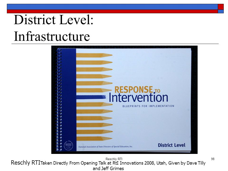 District Level: Infrastructure