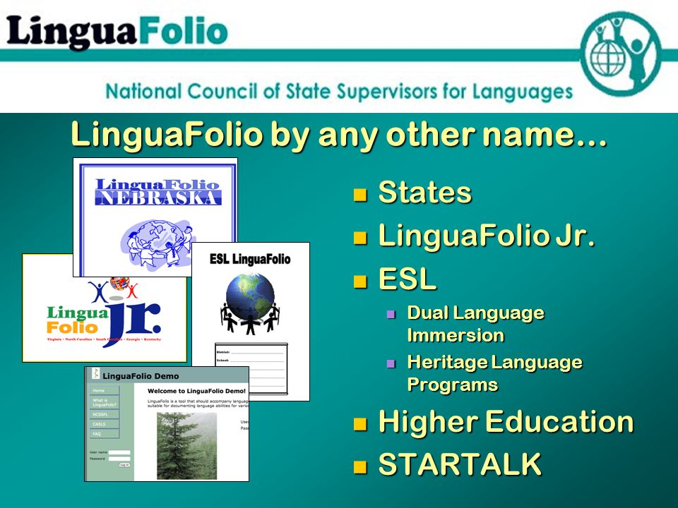 LinguaFolio by any other name…