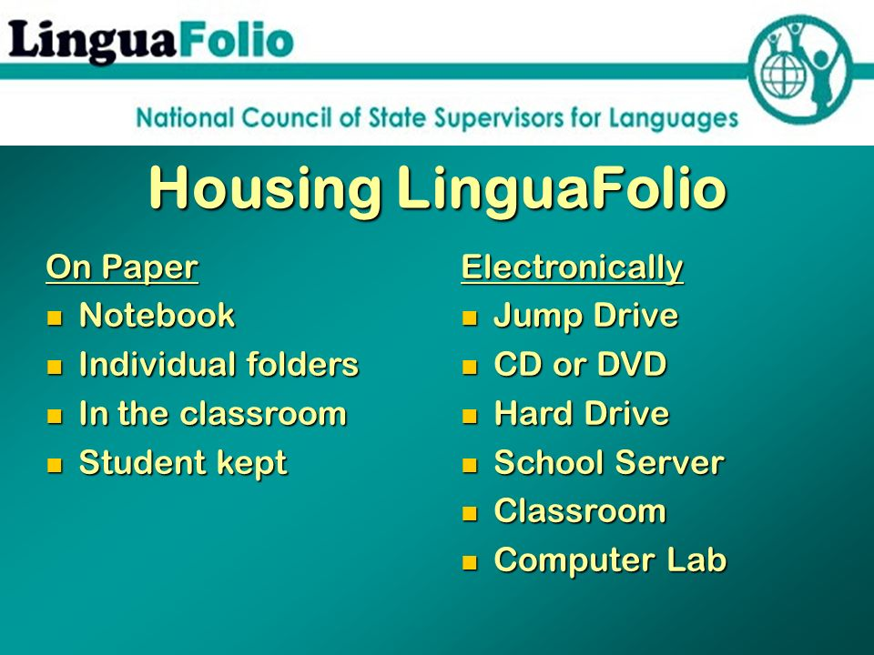 Housing LinguaFolio On Paper Notebook Individual folders