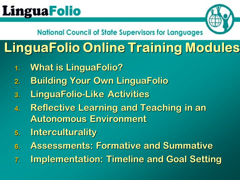 LinguaFolio Online Training Modules