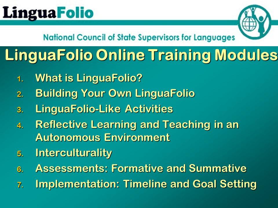 LinguaFolio Online Training Modules