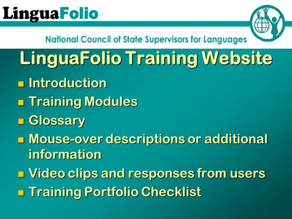 LinguaFolio Training Website