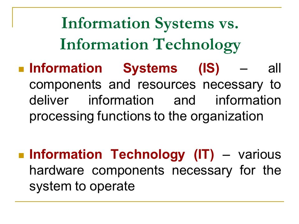 Information Technology System : Management information systems chapter one ppt video