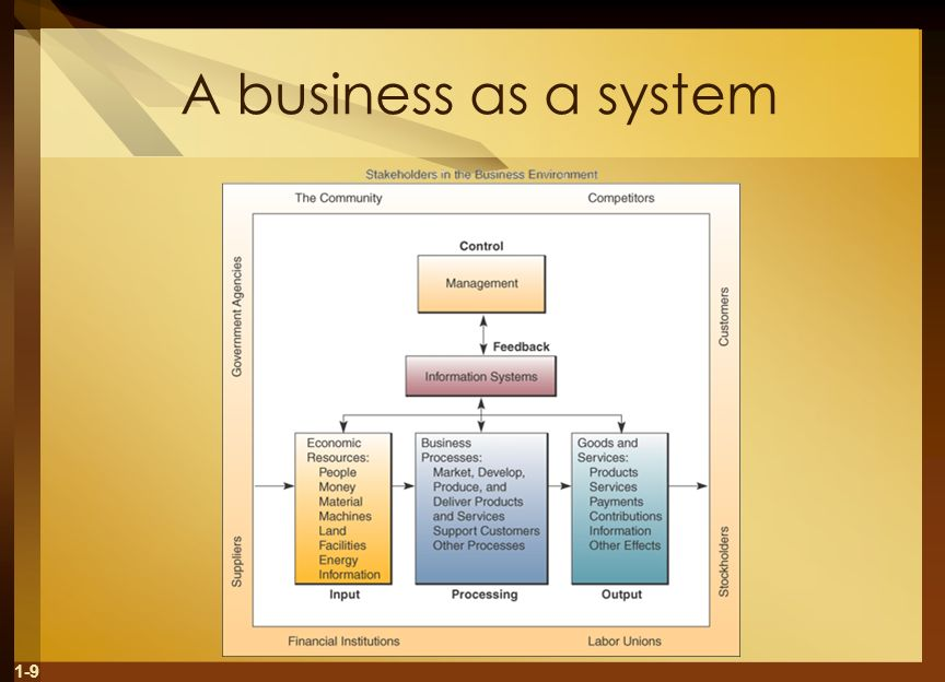 A business as a system