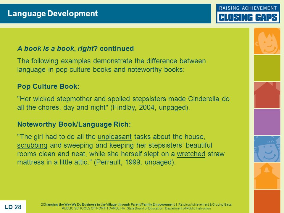 Language Development A book is a book, right continued