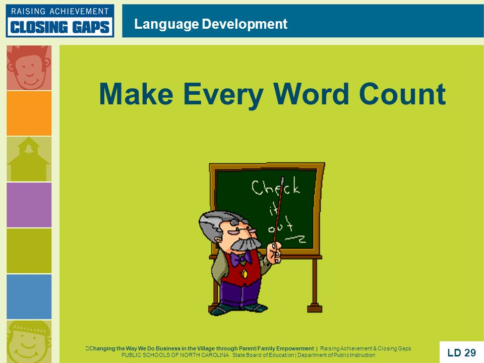 Make Every Word Count Language Development LD 29 LD 29