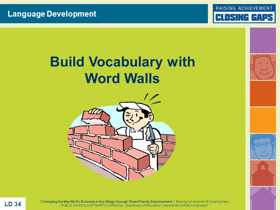 Build Vocabulary with Word Walls