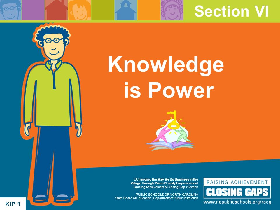 Knowledge is Power Section VI KIP 1 KIP 1