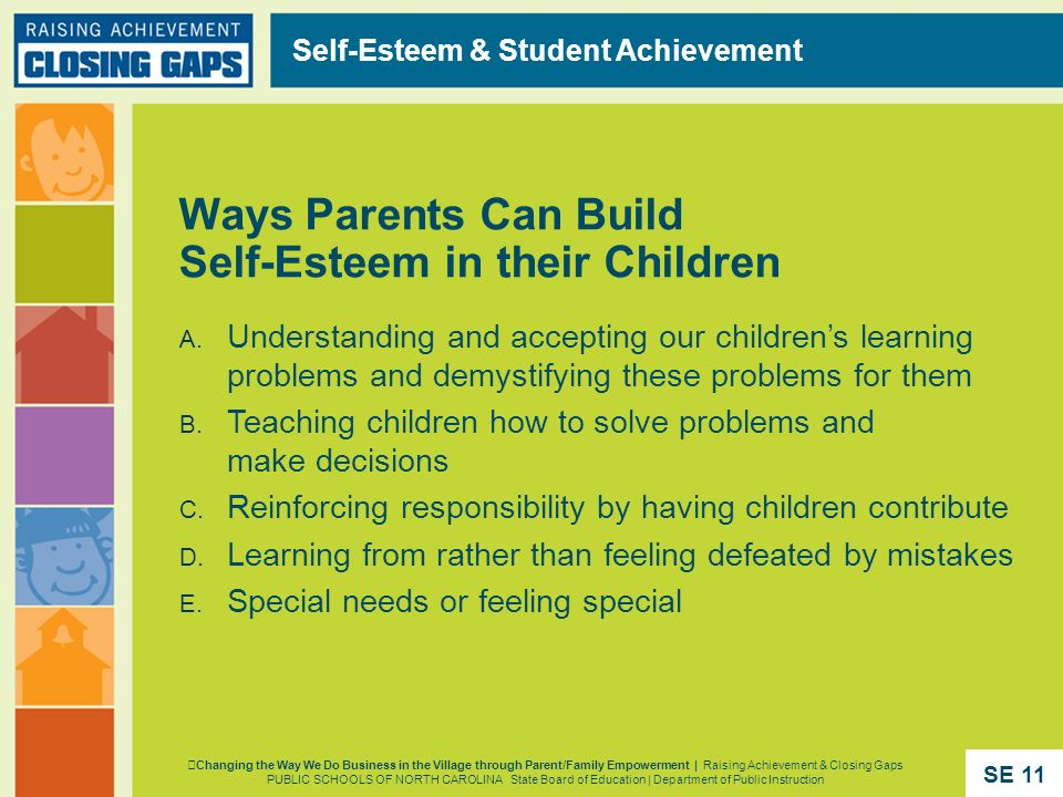 Ways Parents Can Build Self-Esteem in their Children