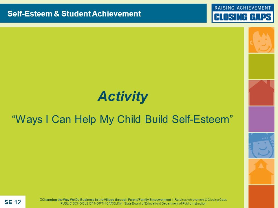 Activity Ways I Can Help My Child Build Self-Esteem