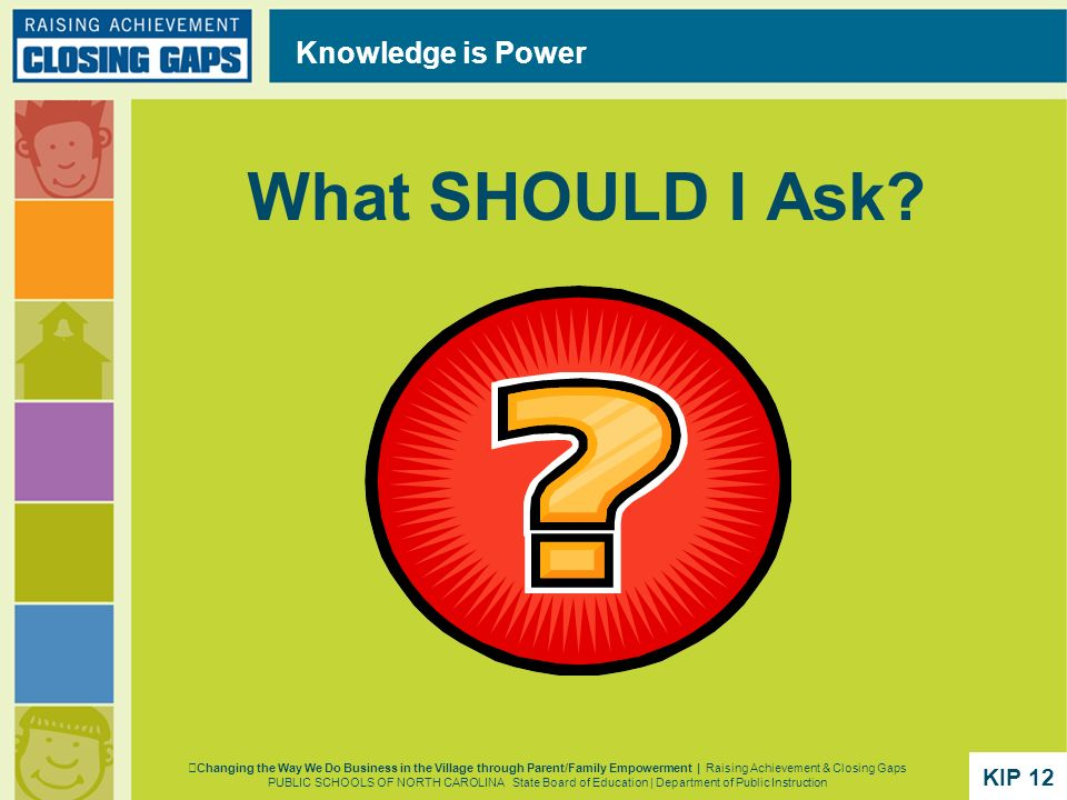 What SHOULD I Ask Knowledge is Power KIP 12 KIP 12