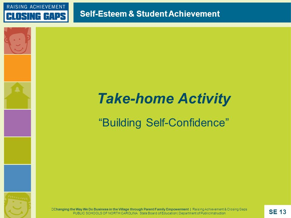 Take-home Activity Building Self-Confidence