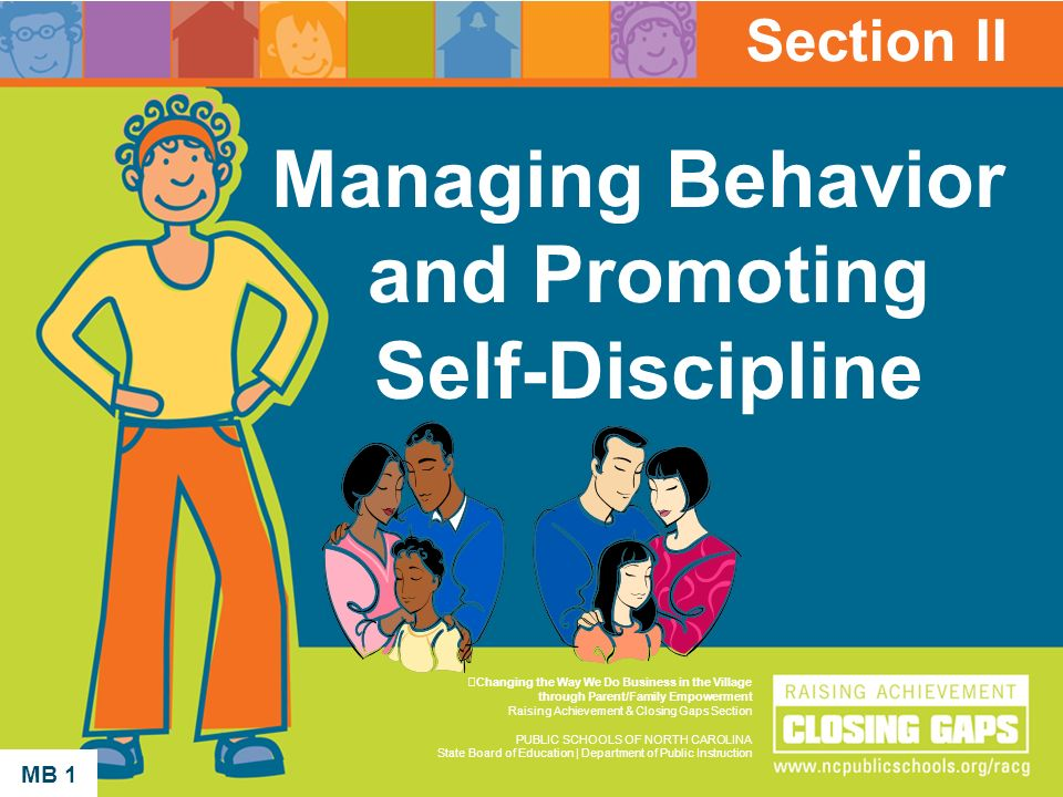 Managing Behavior and Promoting Self-Discipline