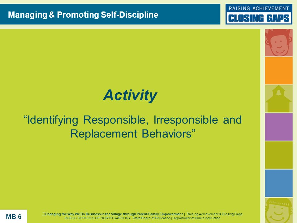 Identifying Responsible, Irresponsible and Replacement Behaviors