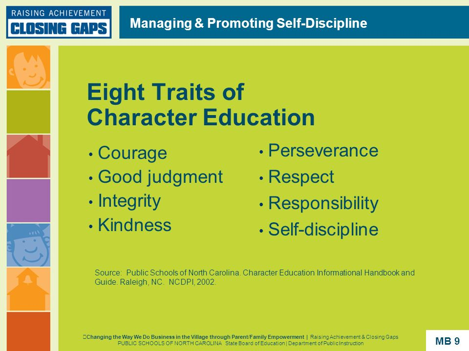 Eight Traits of Character Education