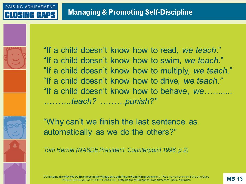 Managing & Promoting Self-Discipline
