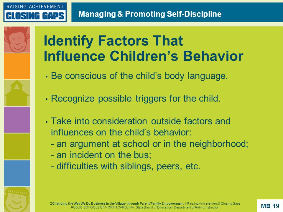 Identify Factors That Influence Children's Behavior