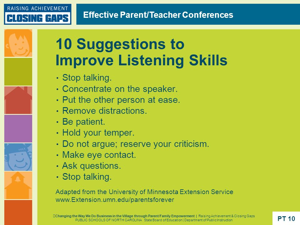 10 Suggestions to Improve Listening Skills