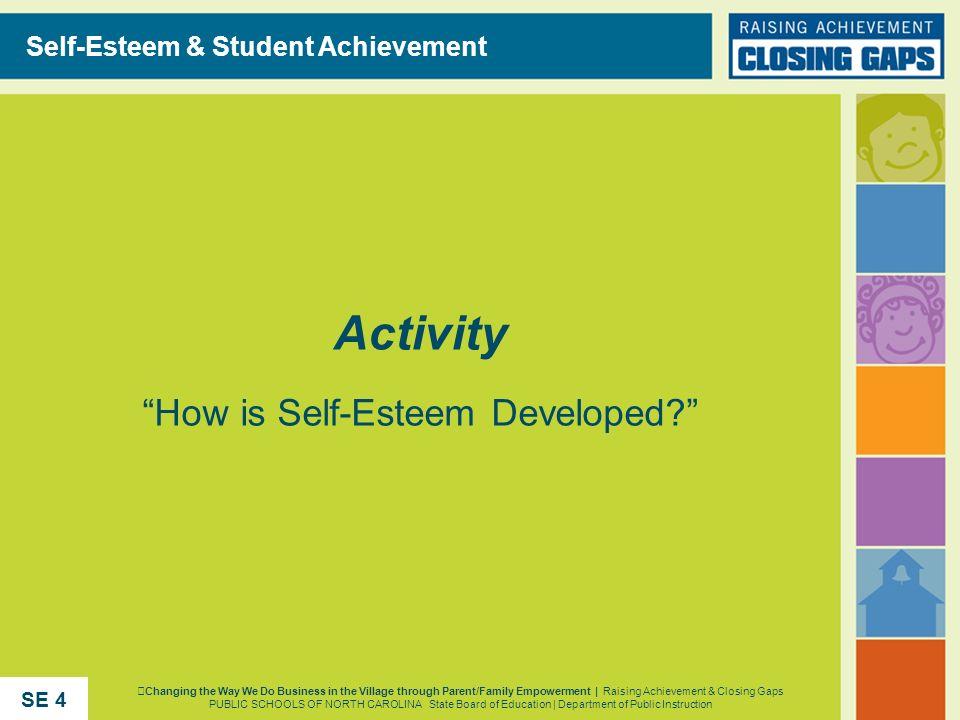 Activity How is Self-Esteem Developed