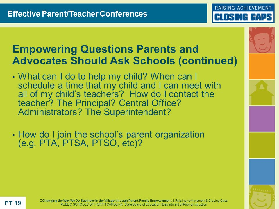 Effective Parent/Teacher Conferences