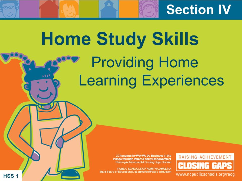 Home Study Skills Providing Home Learning Experiences