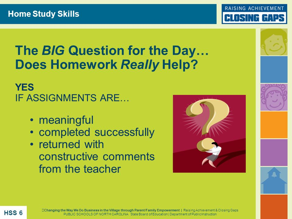 The BIG Question for the Day… Does Homework Really Help